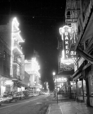 Chinatown at night in 1945