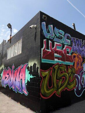 street art at the warehouse
