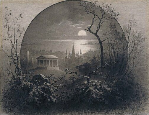 View from Greenwood Cemetery, 1881