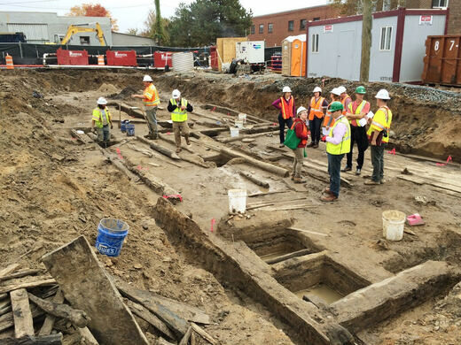 Excavation of the 1755 Town Warehouse