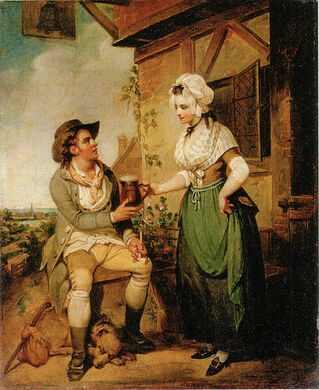 """""""The Ale-House Door"""" by Henry Singleton, c. 1790"""