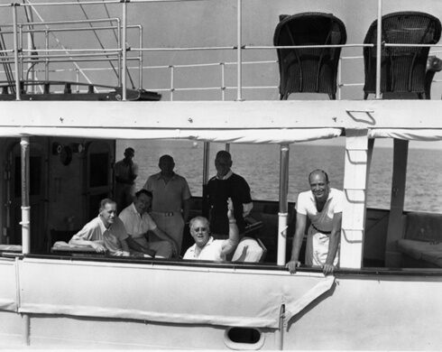 FDR on the fantail