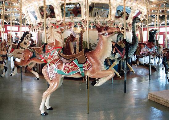 Post-restoration, the Dentzel Carousel in 2015