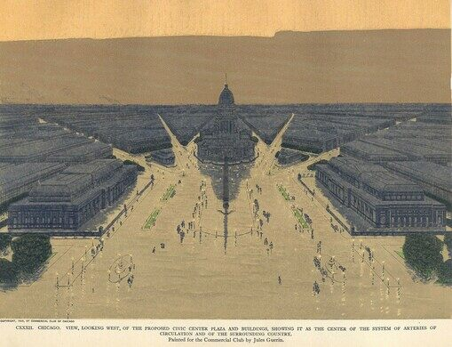 The proposed Civic Center of Chicago