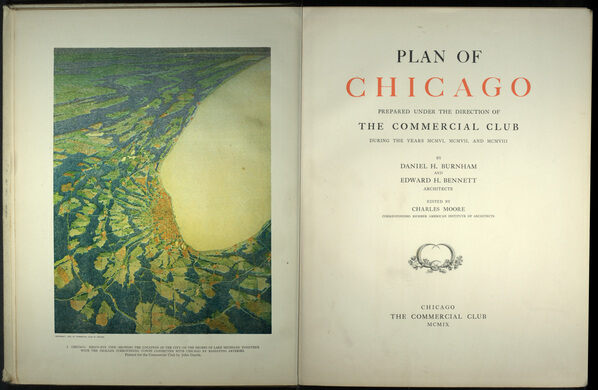 The first page of the Plan of Chicago