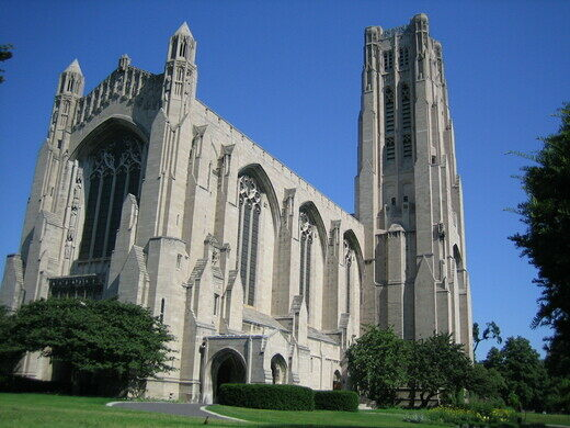 The outside of Rockefeller Chapel