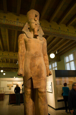 King Tutankhamun inside of the Oriental Institute