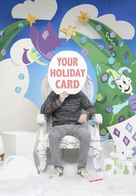 Last year's holiday card set