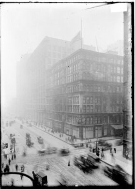 A vintage view of the famous department store