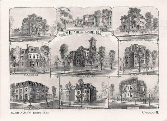 Prairie Avenue Mansions in previous centuries.