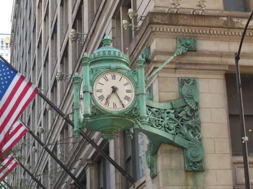 The famous clock at Marshall Field's