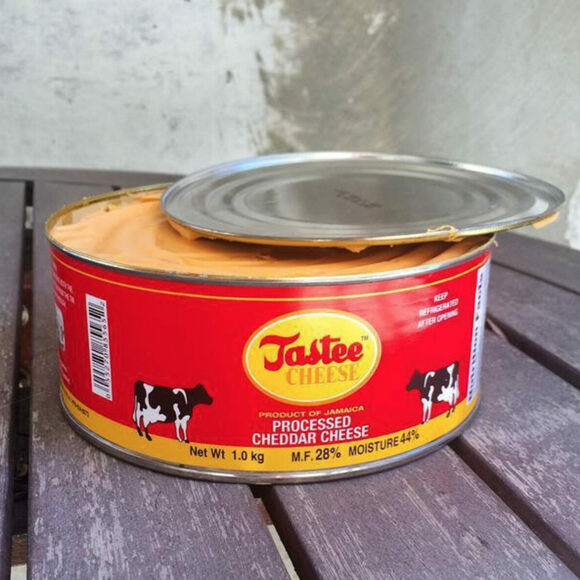 Canned, processed cheddar cheese is sold mostly in Jamaica.