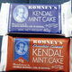 Classic and chocolate-covered Kendal Mint Cakes.