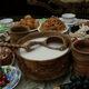 A bowl of kumis in Kazakhstan.