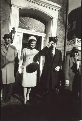 The Kennedys leave their Georgetown home on Inauguration morning in 1961