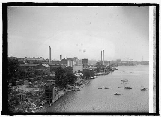 Georgetown waterfront circa 1923