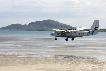 The Barra Airport is the only airport in the world where planes use the beach as a runway.