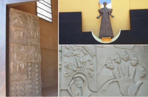 The bronze doors