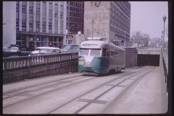 The trolley tunnel circa 1950s