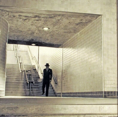 The man on the stairwell
