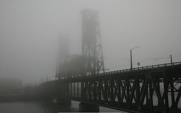 Steel Bridge, in the fog