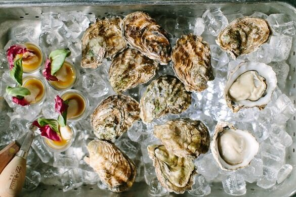 Oysters prepared