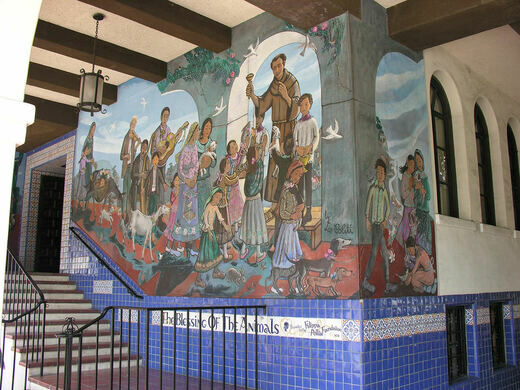 Blessing of the Animals Mural on Olvera Street