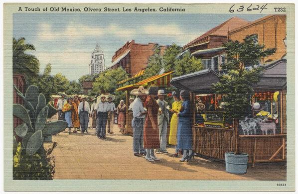 Olvera Street Postcard
