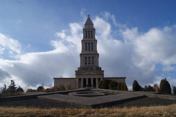 The George Washington Masonic National Memorial looms over all of Old Town.