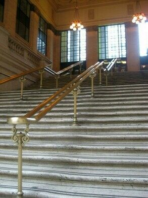 What famous scene was shot on these steps?
