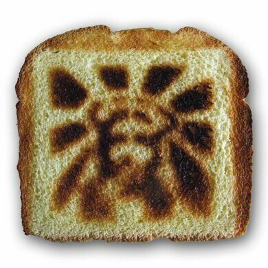 Toast made by the Jesus Toaster –