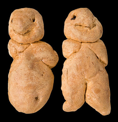 Pope Ladies - ceremonial yeast buns with currant eyes, possibly representing the Virgin and Child