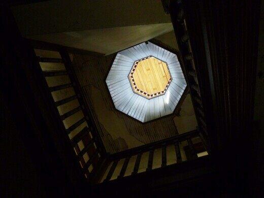 Octagon House, interior.