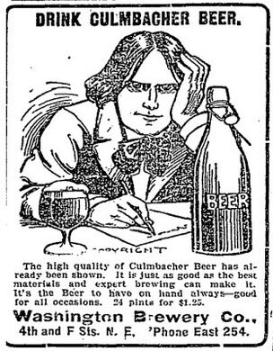 Culmbacher beer advertisment, circa 1902.
