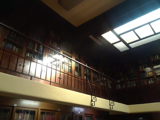 Philosophical Research Society Library, mezzanine level.