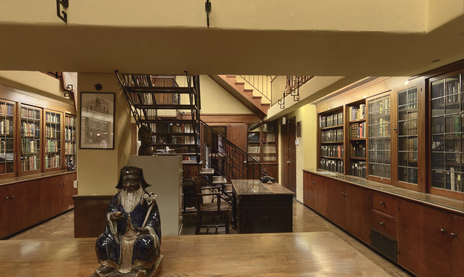 Philosophical Resarch Society Library interior.