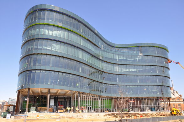 The new D.C. Water headquarters in midst of construction.