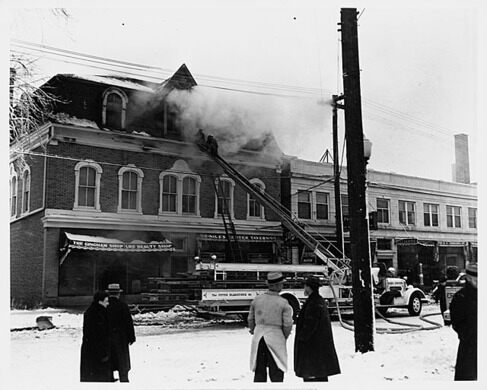 A historic image of the firehouse.