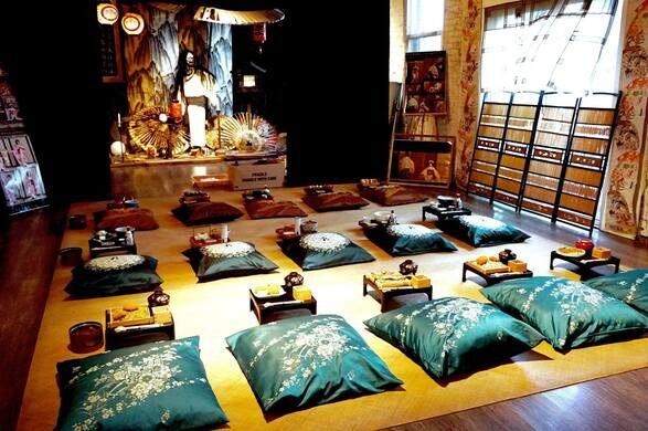 Inside the Japanese Village.