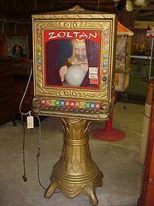 Zoltan the fortune teller.