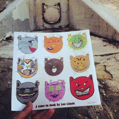 Leo Limon's graffiti river cats.