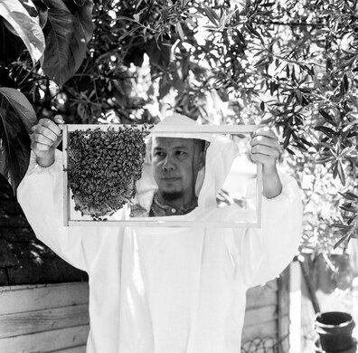 Beekeeper Marvin Jordana.