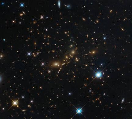 Galaxy cluster.