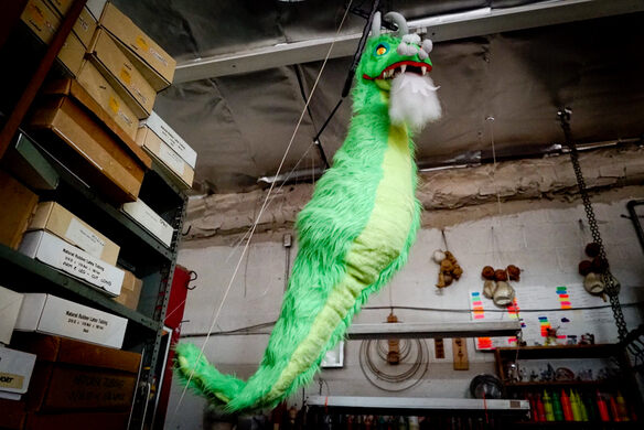 Sea Dragon puppet at the Bob Baker Marionette Theater.