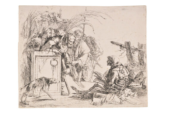 Giovanni Battista Tiepolo. Death Giving Audience. c. 1735 – 1743. Etching on laid paper.