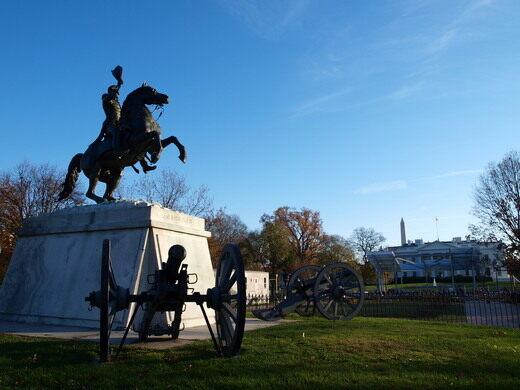 Andrew Jackson in Lafayette Square.