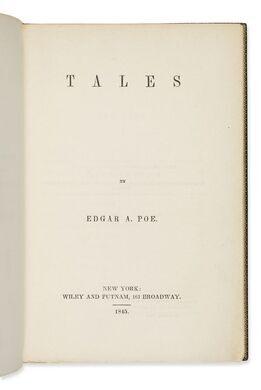 "Rare print of Edgar Allan Poe's ""Tales."""