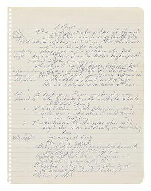 """Born To Run"" working manuscript."