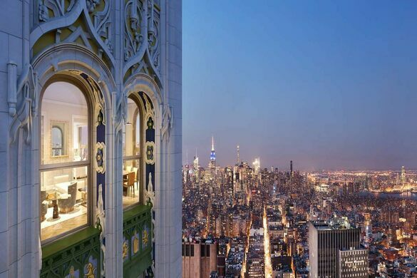 The views from Woolworth Tower Residence.