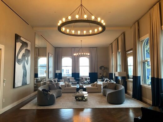 Inside the landmarked apartment space.